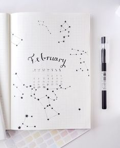 February Bullet Journal Cover Page Ideas {It& not all hearts and flowers!} Last modified on March 2019 > > > February Bullet Journal Cover Page Ideas {It's not all hearts and flowers!}February Bullet Journal C Bullet Journal Inspo, Bullet Journal Simple, February Bullet Journal, Bullet Journal Travel, Bullet Journal Cover Page, Bullet Journal Printables, Bullet Journal Themes, Bullet Journal Spread, Bullet Journal Layout