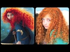Brave Inspired Hairstyle Tutorial - A CuteGirlsHairstyles Disney Exclusive - YouTube