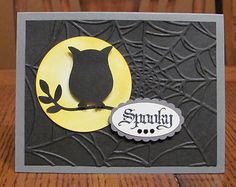 Spooky Owl Moon Halloween Handmade Card Kit Using Some Stampin Up Product Set-5