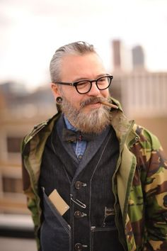Allowing your beard to mature into a wisdom beard ... Even though smoking is stupid not wise