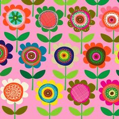 if there is one designer who will be sure to make an impact at the surtex show its carolyn gavin . carolyn will be showing brand new patter. Design Textile, Design Floral, Motif Floral, Textile Patterns, Boho Pattern, Retro Pattern, Pattern Art, Pattern Design, Motif Vintage