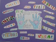 Mural elaborado por primer ciclo para conmemorar el Día de la violencia de género.