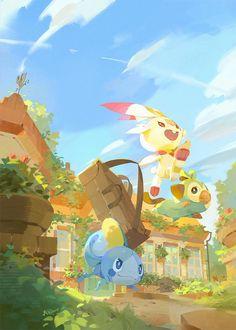 Artwork from the Pokemon universe. Pokemon Fan Art, Pokemon Go, Pokemon Stuff, Pokemon Images, Pokemon Pictures, Pikachu, Chibi Kawaii, A4 Poster, Digimon