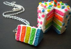 #necklace #jewelry #cake #food #neon #fun #etsy #birthday #green #pink #yellow #orange #blue #white!!