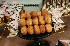 Modern Aztec themed birthday party via Kara's Party Ideas KarasPartyIdeas.com | Cake, decor, printables, tutorials, desserts, banners, food, and more! #modernaztecparty (21)