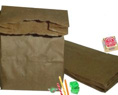 old-fashioned brown paper bags Penny Candy Bags Brown Favors 150
