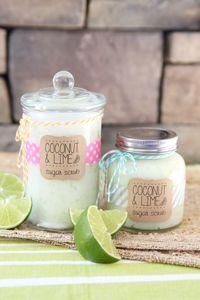 kokosnoot en Limoen Suiker Scrub