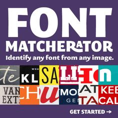 Font Squirrel: Free Fonts & Font Matcherator. Find any font in any image.