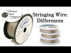 Video: Differences in Stringing Wire (What Kind of Wire to Use)  #Beading #Jewelry #Tutorials