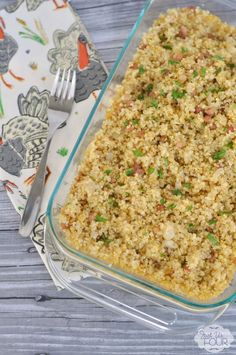 This is the most delicious Thanksgiving recipe: gluten free quinoa stuffing with pancetta