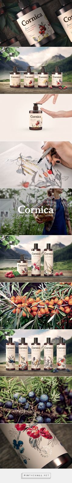 Natural Cosmetic Cornica -  Packaging of the World - Creative Package Design Gallery - http://www.packagingoftheworld.com/2016/04/natural-cosmetic-cor... - a grouped images picture