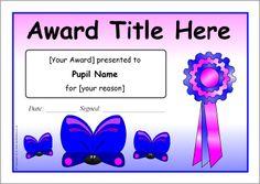 editable award certificate template classroom ideas pinterest