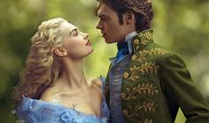 Ch 23.17 'Retiring to bed that night after the pleasures of the afternoon, Jane cast herself as Cinderella, reunited by chance with Mr Bingley at a ball,' This pic - Cinderella Poster Lily James Richard Madden