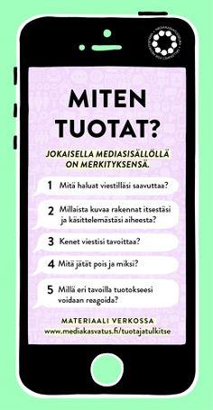 miten-tuotat-mediakasvatusseura-web Finnish Language, Communication, Presentation, Student, Teaching, Writing, Education, How To Plan, School