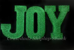 JOY Glitter Letters, JOY Wooden Letters, Christmas Decor, Christmas Deckrations, Christmas Party, Christmas for the Home, Wood Letters, MTO by CrawdadzShiplapShack on Etsy https://www.etsy.com/listing/483929315/joy-glitter-letters-joy-wooden-letters