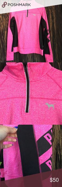 PINK workout long sleeve Super cute and comfortable, zero imperfections! PINK Victoria's Secret Tops