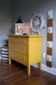 Lovely nautical Yellow dresser