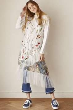 9b18859383a79b Ciena Floral Flower Mesh Dress Discover the latest fashion trends online at  storets.com