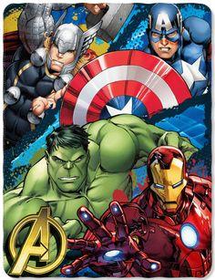 Defend Earth Marvel Fleece Throw