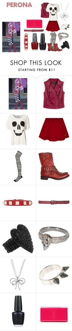 """Perona"" by casualanime ❤ liked on Polyvore featuring Forever 21, Wildfox, Hollister Co., River Island, Frye, Valentino, Zara, Betsey Johnson, STONE and Talullah Tu"