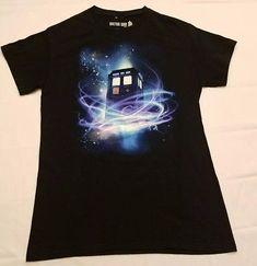 Dr Who BBC S small Ripple Junction t shirt black Tardis fan tee Geek gift sci-fi