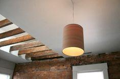 Lámpara DIY colgante de tubo hecha con lámina de madera