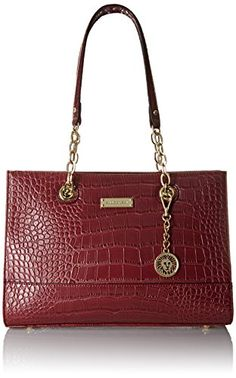 Anne Klein Coast IS Cleartote Tote Bag, Bordeaux, One Size