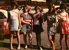 """1968 fashion: An unfavorite: 8th grade teachers would scowl """"I can see your underwear. Kneel, and let's see that hem length."""" Duh... I was 5'8"""" and all girl's clothes came in one- size-fits-all length."""