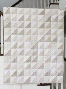 Modern gray and white neutrals quilt