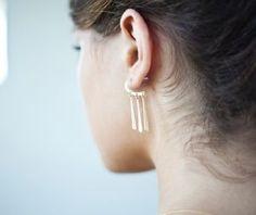 boucles d'oreilles créoles argenté de Shlomit Ofir