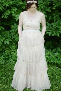 BHLDN strapless wedding dress