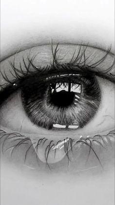 Realistic Pencil Drawings, Dark Art Drawings, Art Drawings Sketches Simple, Pencil Art Drawings, Realistic Eye Sketch, Amazing Drawings, Pencil Sketching, Sketches Of Women, Eye Pencil Sketch