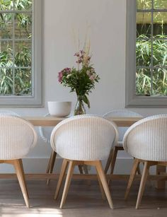 Synonymous with quality and design, Vincent Sheppard has been creating unique furniture pieces since 1992 but it's their 'Lloyd Loom' furniture range that has Decor, Furniture, Oak Chair, Oak Dining Chairs, Classy Furniture, Lloyd Loom Chair, Dining Room Seating, Lloyd Loom, Home Decor
