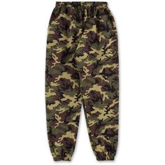 Camo Sweatpants Green (€38) ❤ liked on Polyvore featuring pants