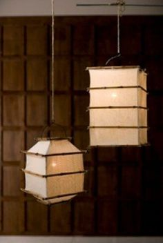 Oriental furniture simple inexpensive ceiling lighting fixture lamp bamboo linen hanging lamps our square bamboo framed mozeypictures Choice Image