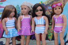 American Made Puppenkleider 2 pc Bikini Badeanzug von Closet4Chloe