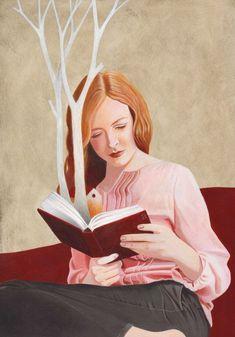 """bibliolectors: """"Empieza a brotar la primavera entre las páginas del libro (ilustración de Alberto Macone) """""""