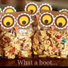 Owl Goody Bags--cute idea for halloween