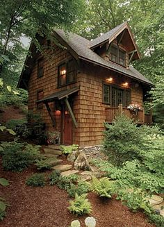 shingled woodland cottage #sheds and cottages