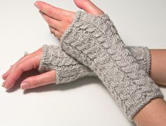 Ravelry: Cabled Fingerless Gloves pattern by Luciana Boic