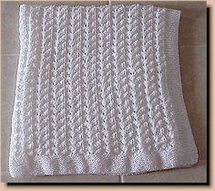 Lace Knit Baby Blanket Pattern from Nancy Hearne, Designs
