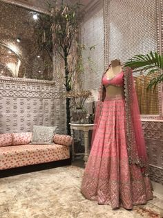 The Best Bridal Buys Of The Month! There are different rumors about the real history of the marriage dress; Red Wedding Dresses, Indian Wedding Outfits, Bridal Outfits, Indian Outfits, Pink Lehenga, Bridal Lehenga, Queen Victoria Albert, Marriage Dress, Bride Sister