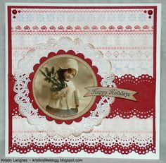 Kristins lille blogg: Julekort med bannere