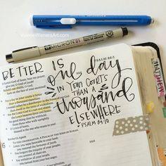 Bible journaling!!