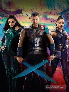 Thor: Ragnarok - Promotional art with Cate Blanchett, Tessa Thompson & Chris Hemsworth