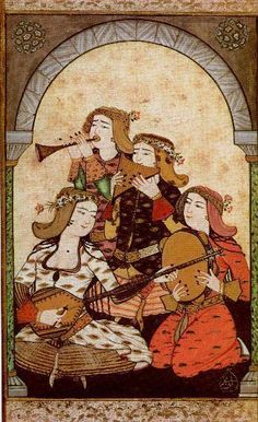 Ottoman miniature painting from the Surname-i Vehbi by the Ottoman court painter and miniaturist Abdulcelil Flautas, Oriental, Iranian Art, Turkish Art, Ottoman Empire, Historical Costume, 15th Century, Vintage World Maps, Museum