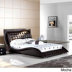 modern platform bed king. Matisse Dublin Modern King Size Platform Bed (