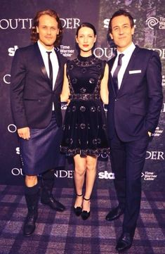 How lucky am I..? These two... @Heughan @TobiasMenzies from Caitriona Balfe twitter