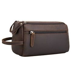 1c200c7248 Srotek Buffalo Genuine Leather Toiletry Bag Unisex Travel Dopp Kit Bag  Vintage  SrotekBuffalo  ToiletryBag