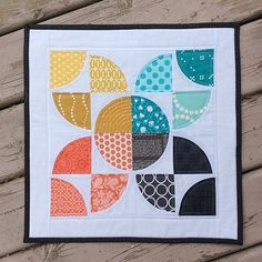 All done! #schnitzelandboominiquiltswap | Flickr - Photo Sharing!